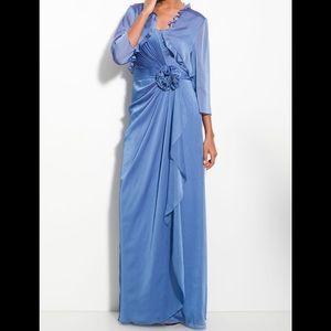 Adrianna Papell Cationic Chiffon Gown w Bolero